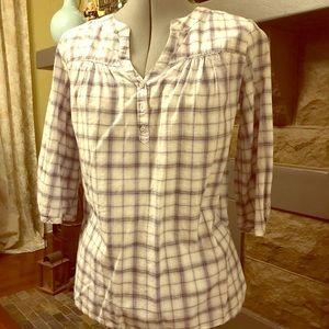 Merona lavender plaid shirt - small 100% cotton